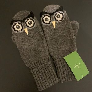 """NWT Kate Spade """"Wise Owl"""" Mittens"""
